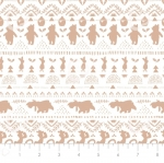 CAMELOT FABRICS - Wonder & Whimsy - Silhouette Stripe Tan