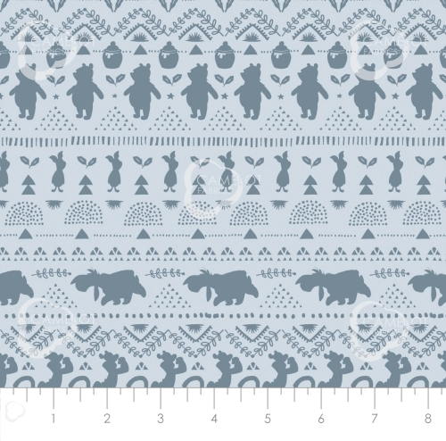 CAMELOT FABRICS - Wonder & Whimsy - Silhouette Stripe Blue - #2167-