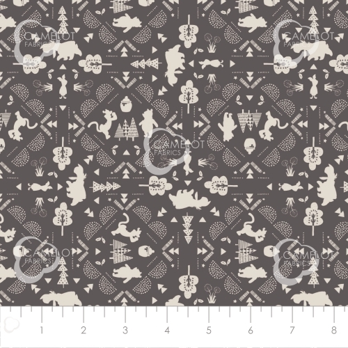 CAMELOT FABRICS - Wonder & Whimsy - Silhouette Lace Graphite - #2169-
