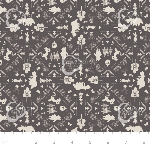 CAMELOT FABRICS - Wonder & Whimsy - Silhouette Lace Graphite