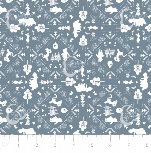 CAMELOT FABRICS - Wonder & Whimsy - Silhouette Lace Blue - #2165-
