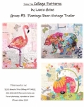Teeny Tiny Collage Patterns Group 3 - Flamingo - Bear - Vintage Trailer by Laura Heine