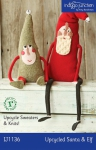 Indigo Junction Upcycled Santa and Elf