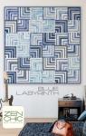 Blue Labyrinth Quilt Pattern by Brigitte Heitland Zen Chic