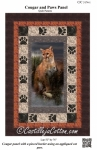 Cougar and Paws Panel Pattern by Diane McGregor