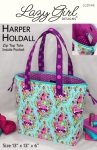 Harper Holdall Tote Pattern by Lazy Girl Designs