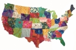 USA Map Collage Quilt Pattern by Emily Taylor Designs
