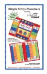 Simple Strips Placemats Pattern by Annie