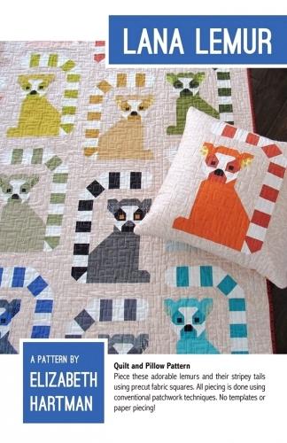Lana Lemur Quilt Pattern by Elizabeth Hartman
