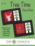 Tree Time Quilt as You Go Placemats Pattern by GE Designs
