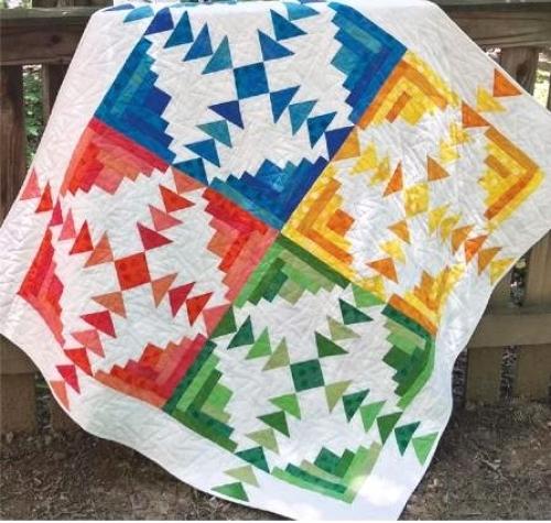 Cut Loose Press - Four Seasons Log Cabin Quilt Pattern