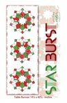 Starburst Table Runner with 4 patch template by Me and My Sister Designs