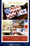 The Flag & Freedom Pillow Set Pattern by KimberBell