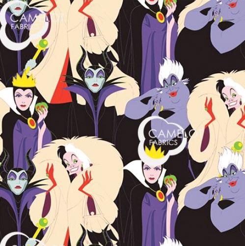 CAMELOT FABRICS - Disney Villains - Diabolically Devious - Villainous Group