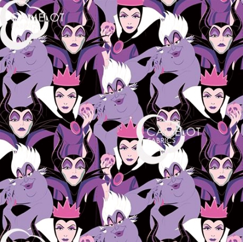 CAMELOT FABRICS - Disney Villains - Diabolically Devious - Diabolical Villains