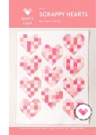 Scrappy Hearts Quilt Pattern by Quilty Love