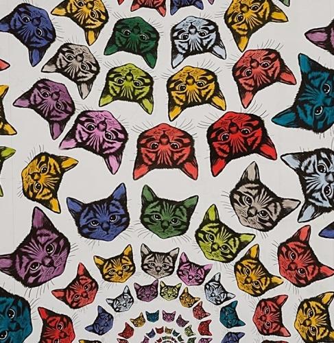 ALEXANDER HENRY - Cat-Finity - Nat/Multi - #1904-