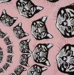 ALEXANDER HENRY - Cat-Finity - Pink - #1907-