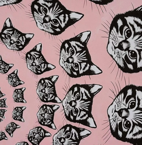 ALEXANDER HENRY - Cat-Finity - Pink