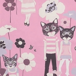 ALEXANDER HENRY - Cool Cats - Pink