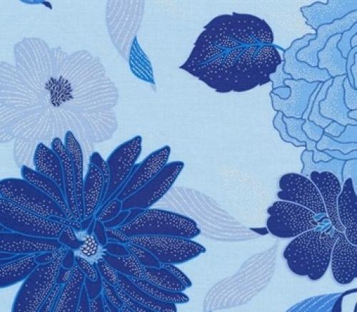 BENARTEX - Blue Brilliance - Floral Light Blue - #2031-
