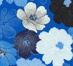 BENARTEX - Blue Brilliance - Packed Shimmer Flower - Blue #734-