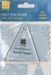 Jelly Roll Ruler - Mini 45 Degree Triangle by EZ Quilting