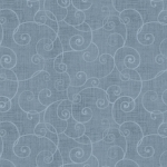 HENRY GLASS - Whimsey - Swirls Light Blue