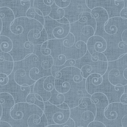 HENRY GLASS - Whimsey - Swirls Light Blue