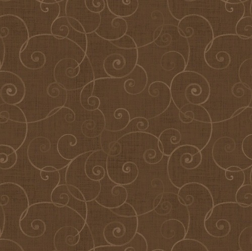 HENRY GLASS - Whimsey - Swirls Medium Brown
