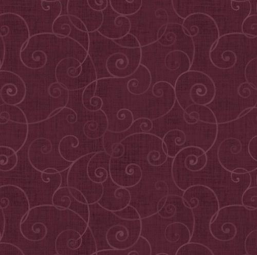 HENRY GLASS - Whimsey - Swirls Plum