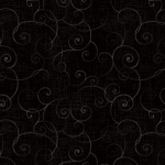 HENRY GLASS - Whimsey - Swirls Black