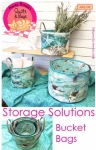 Storage Solutions Bucket Bags Pattern by Among Brendas Quilts & Bags