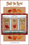 CD - Fall in Love Table Top Display Machine Embroidery by Janine Babich Design