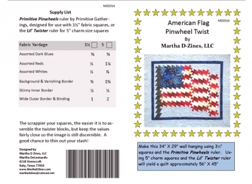 """Lil Twister Pinwheel Quilt Template 5/"""" Squares"""