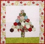 Cut Loose Press - Happy Hexies Tree Wall Quilt Pattern