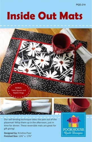 PoorHouse Quilt Designs: Inside Out Mats Pattern