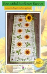 Bee-Utiful Sunflower Runner Machine Embroidery by Amelie Scott Designs