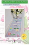 Easter Garden Table Runner Machine Embroidery by Amelie Scott Designs