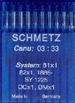 Schmetz Overlock DCX1 sz9/65 10 ct