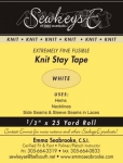 Knit Stay Extremely Fine Fusible Tape .5in x 25 yd White