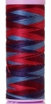 Silk-finish 50wt Variegated Cotton Thread 109yd/100m Berry Rich
