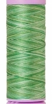 Silk-finish 50wt Variegated Cotton Thread 109yd/100m Minty