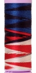 Silk-finish 50wt Variegated Cotton Thread 109yd/100m Patriotic