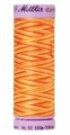 Silk-finish 50wt Variegated Cotton Thread 109yd/100m Orange Ana