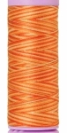 Silk-finish 50wt Variegated Cotton Thread 109yd/100m Rust Ombre