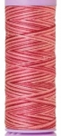 Silk-finish 50wt Variegated Cotton Thread 109yd/100m Cranberry Crush
