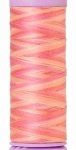Silk-finish 50wt Variegated Cotton Thread 109yd/100m Dusty Rose