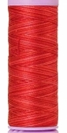 Silk-finish 50wt Variegated Cotton Thread 109yd/100m Strawberry
