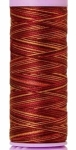 Silk-finish 50wt Variegated Cotton Thread 109yd/100m Mocha Cherry